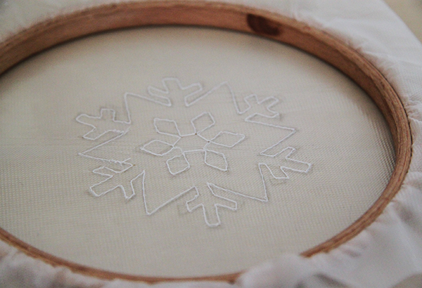 stitched snowflake