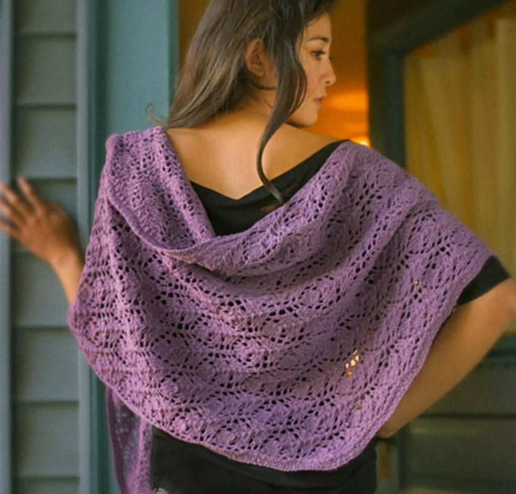 Rhombus Feather Shawl Kit for knitting