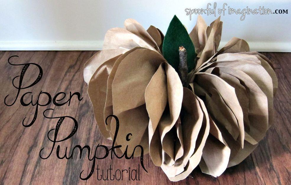 Brown Paper Pumpkin