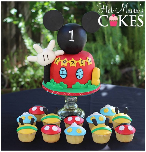 Mickey Mouse Clubhouse cake & cupcakes