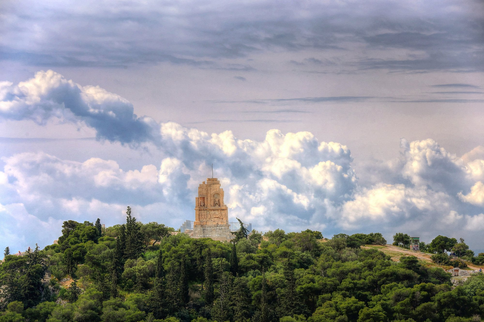 Athens cloud and temple rule of thirds