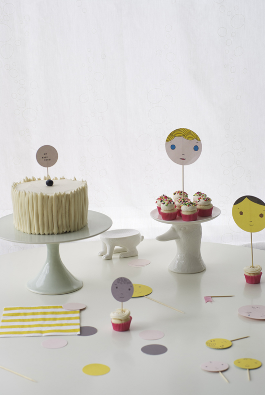 baby face cake toppers - coco cake land