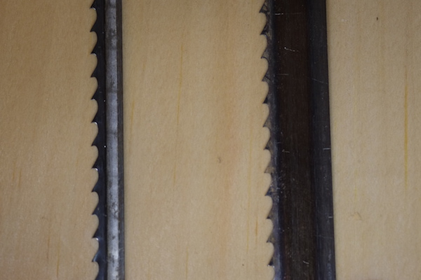 Difference in blade width