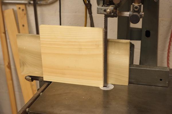 Bandsaw blade resawing