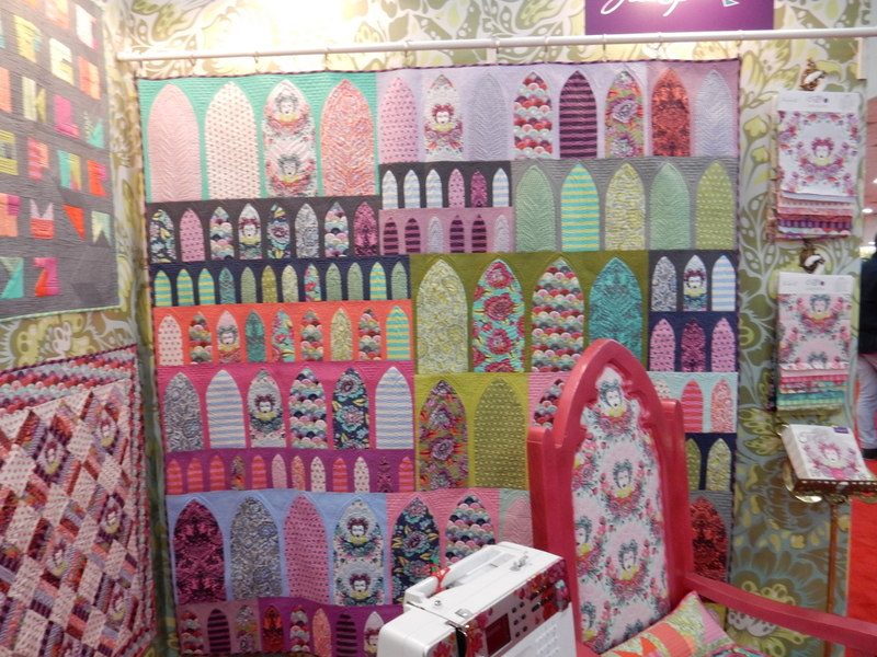 Tula Pink's display featuring her upcoming collection Elizabeth.