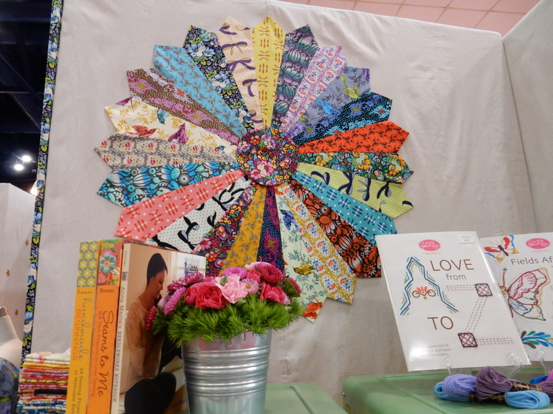 Anna Maria Horner's display at the Fall 2014 International Quilt Market