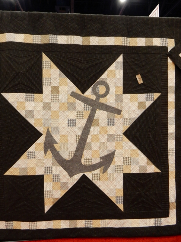This anchor design by Lisa Bongean of Primitive Gatherings features her upcoming Moda collection Lakeside Gatherings.