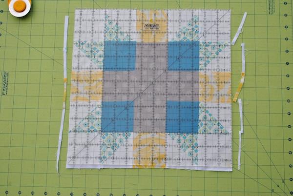 Trimming quilt block edges