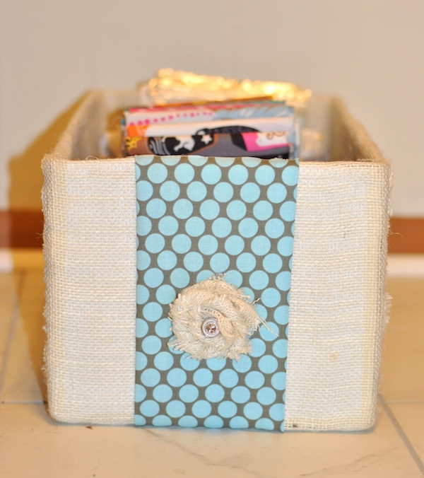 Cover Diaper Box in Fabric