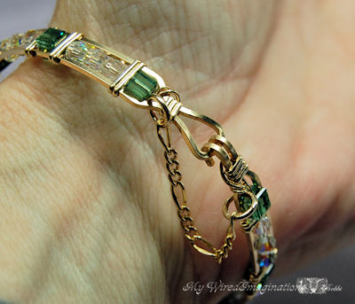 bracelet with safety chain added