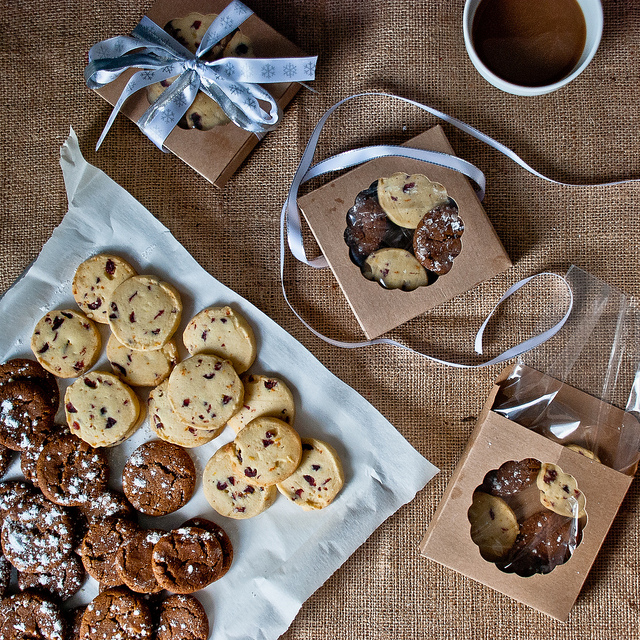 Gingersnaps and Cranberry Orange Shortbread