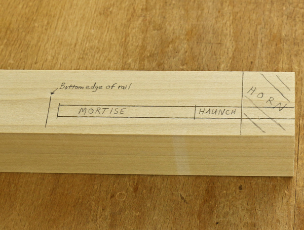 haunched mortise layout