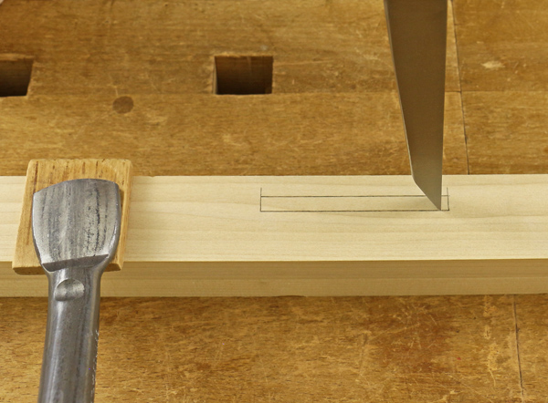 mortise chisel position