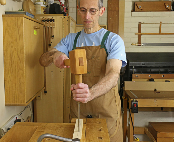 chopping a mortise