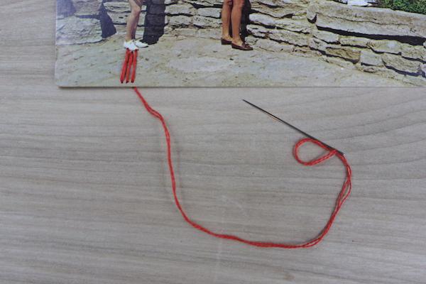 Sewn lines