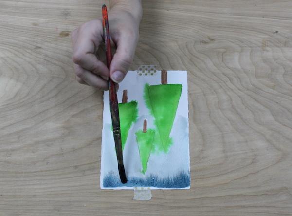 wet on wet painting technique progress