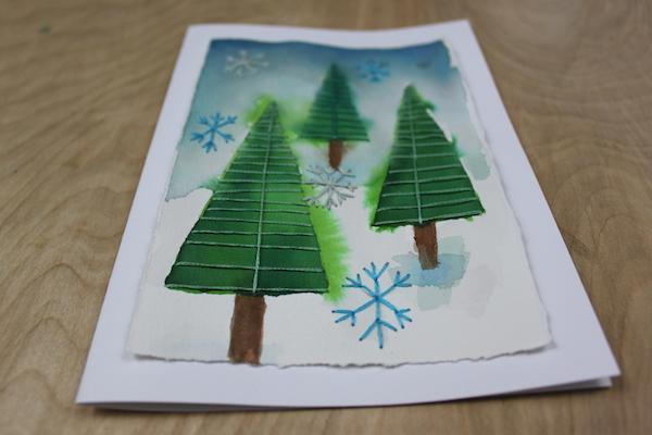 Handmade embroidered card