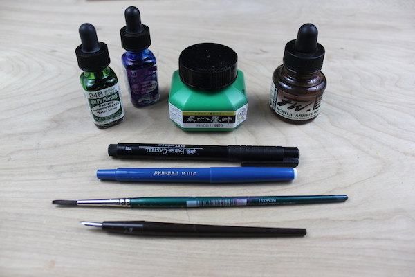 tools for ink drawing
