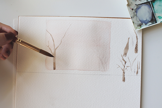 painting tree branches