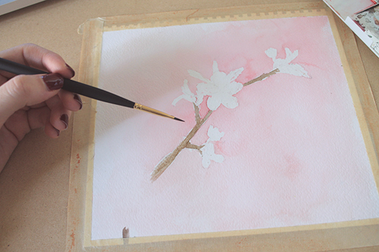 painting detailed branches