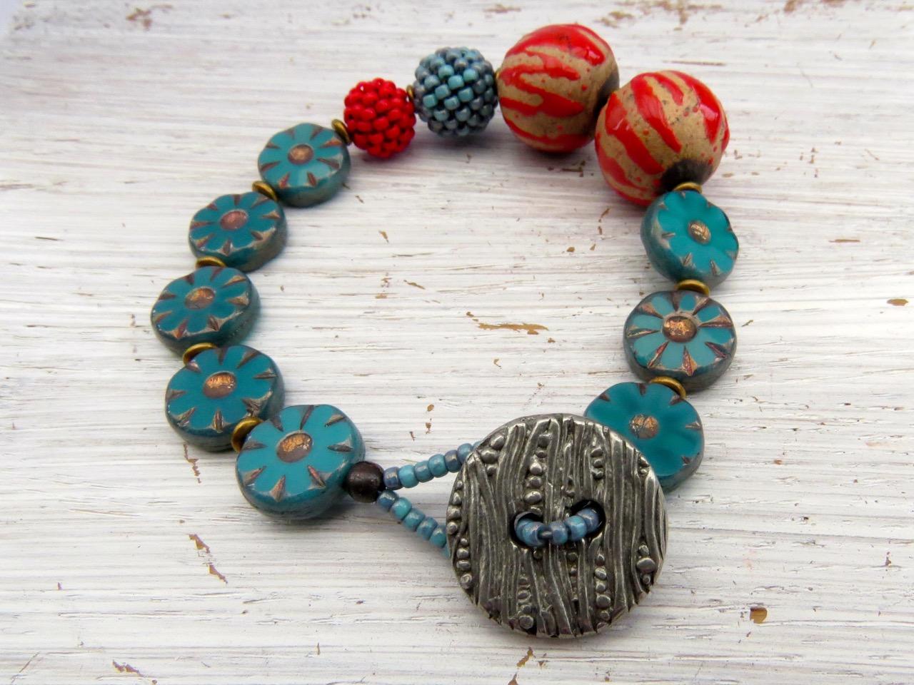 Bead strung bracelet