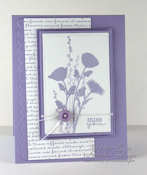 Peaceful lavender monochromatic card - finished.