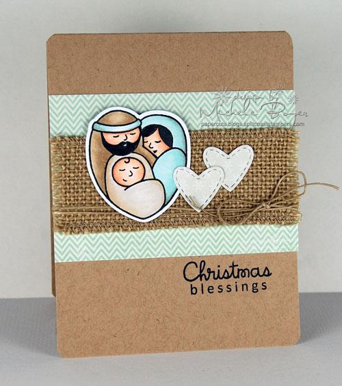 Finished nativity card