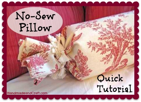 No-Sew Pillow Tutorial DIY