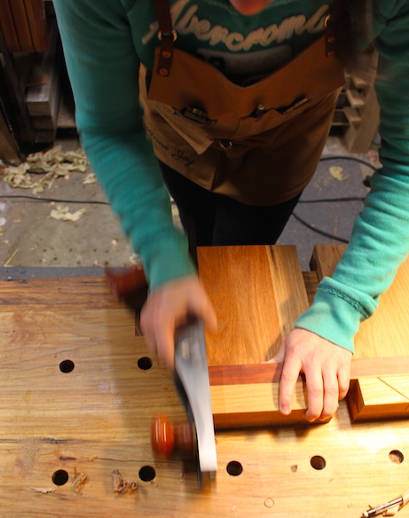Continuing using the bench hook as a shooting board