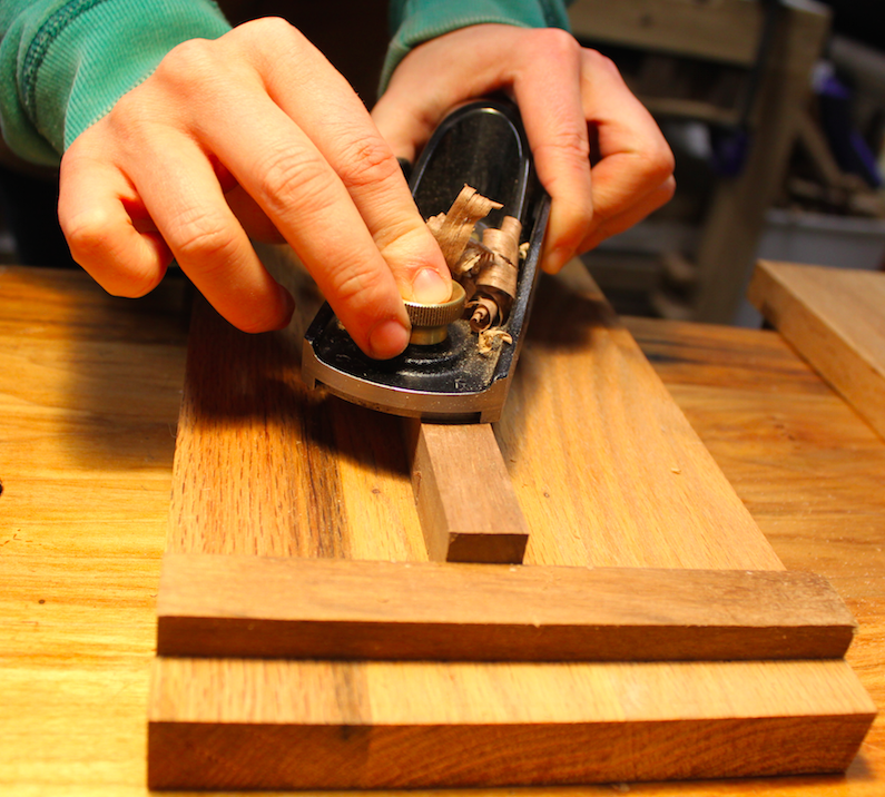 Use your bench hook as a planing stop for small items