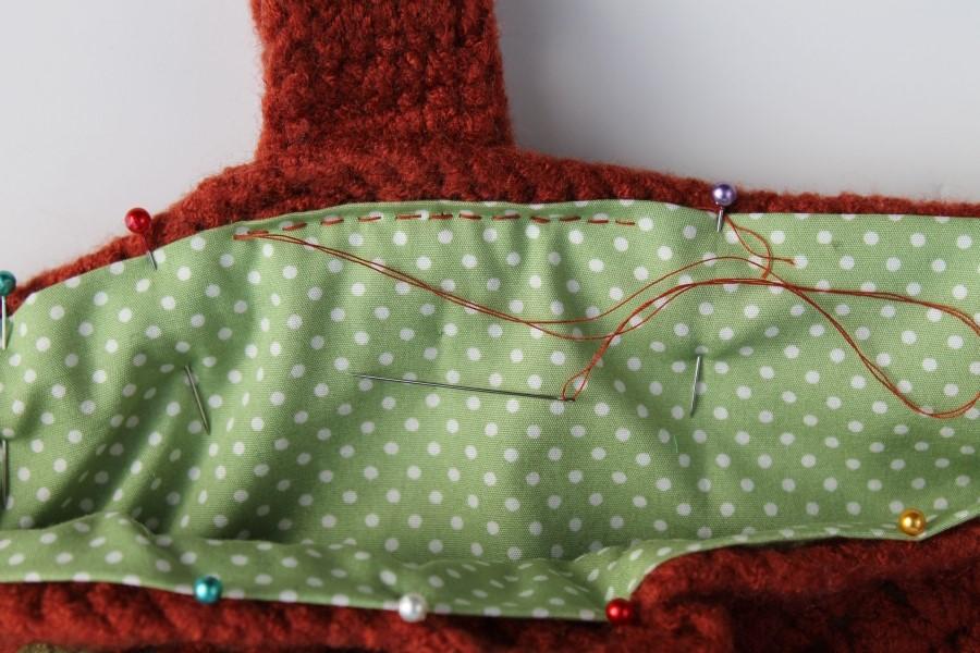 lining crochet bag