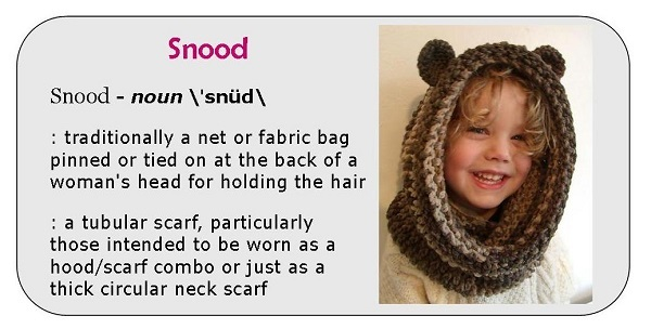Snood definition Graphic - Bear Snood crochet pattern