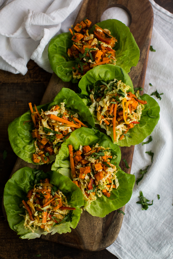 Thai Roasted Sweet Potato Wraps