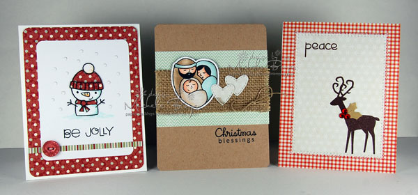 Trio of Stamped Christmas Cards