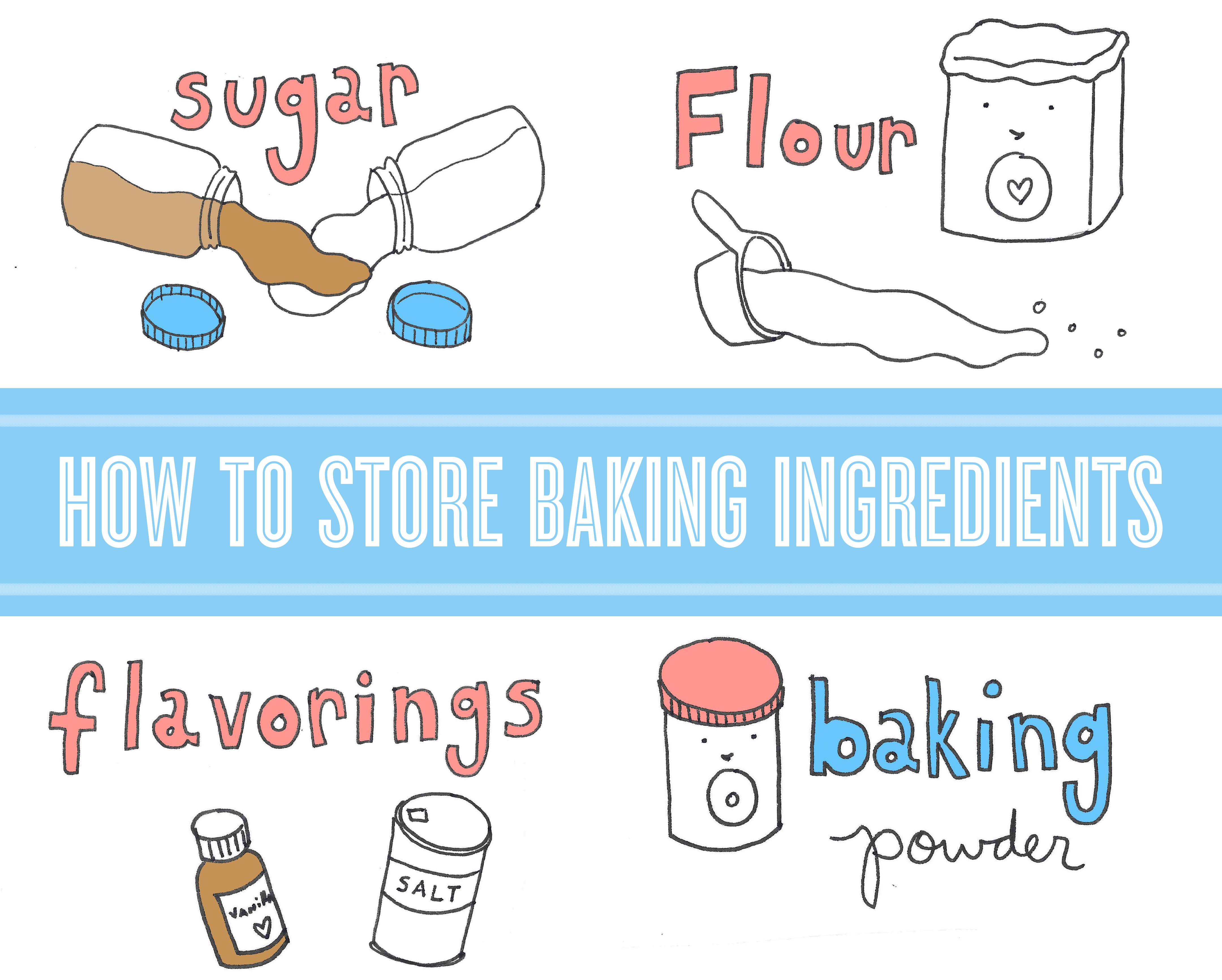 Storing baking ingredients