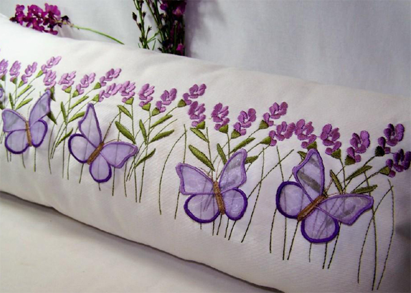 3D butterfly pillow by Embroidershoppe on Bluprint