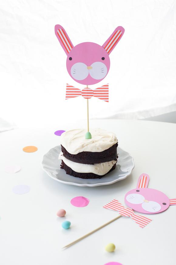bunny cake topper DIY
