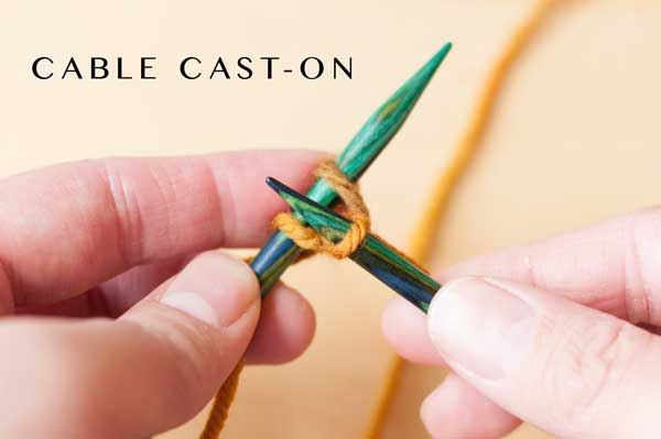 Learning the cable cast on