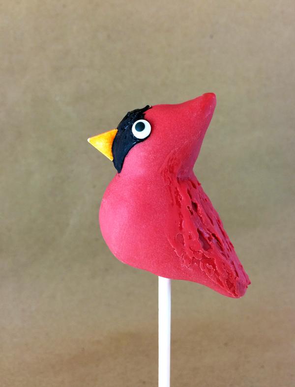 Cardinal Cake Pop