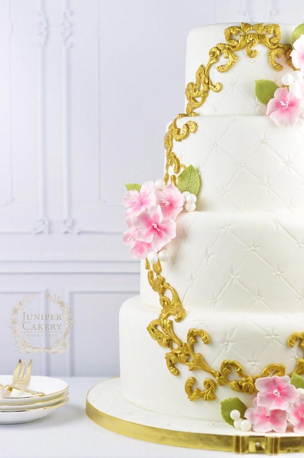 Cherry blossom frame cake by Juniper Cakery