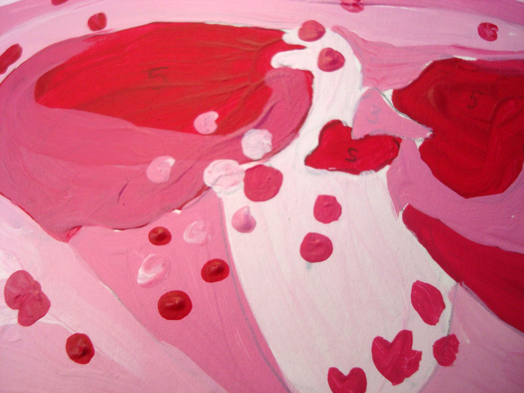Closeup of monochromatic painting