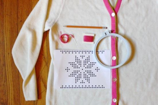 Embroidered Fair Isle Sweater