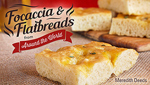 Title image for focaccia bread making class on Craftsy