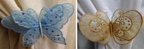 freestanding lace organza butterflies