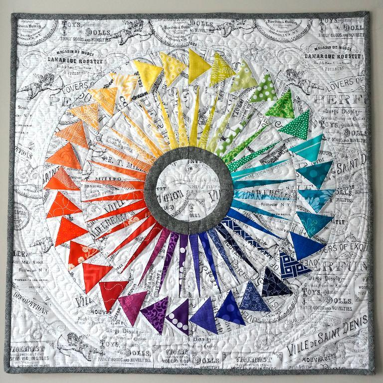 New York Beauty Flying Geese Mini Quilt