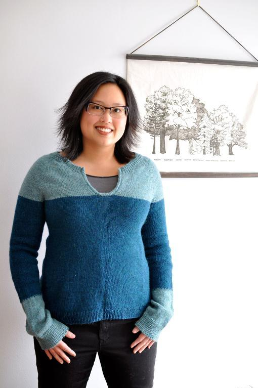 Ikemura colorblocked knitting pattern