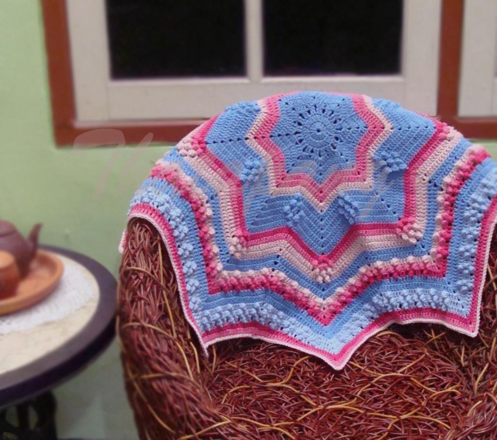 Star Popcorn Blanket crochet pattern
