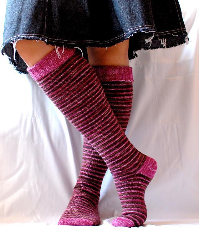 Delicious Knee Socks knitting pattern