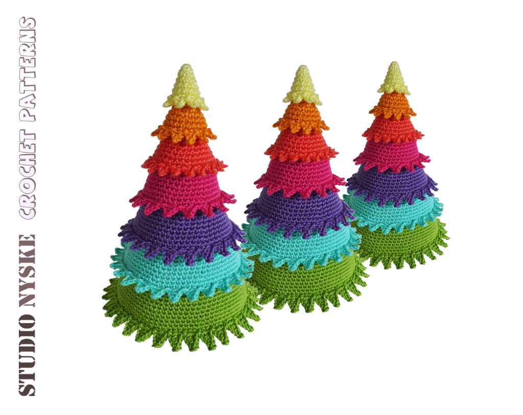 Christmas Tree Rainbow crochet pattern