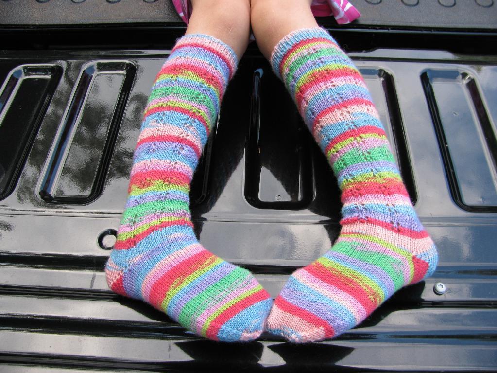 Tutti-Frutti Butterfly Knee Socks knitting pattern